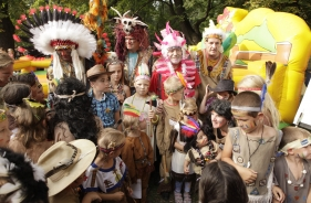 Hanáckou prérií se prohnalo přes tisíc malých indiánů