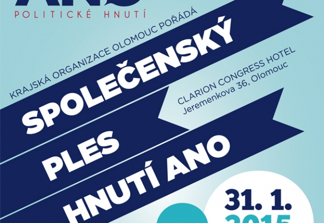 2. společenský ples hnutí ANO 31. 1. 2015 v Clarion Congress Hotel Olomouc