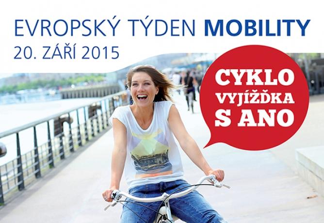Cyklovyjížďka s ANO - Evropský týden mobility Olomouc, Přerov, Prostějov