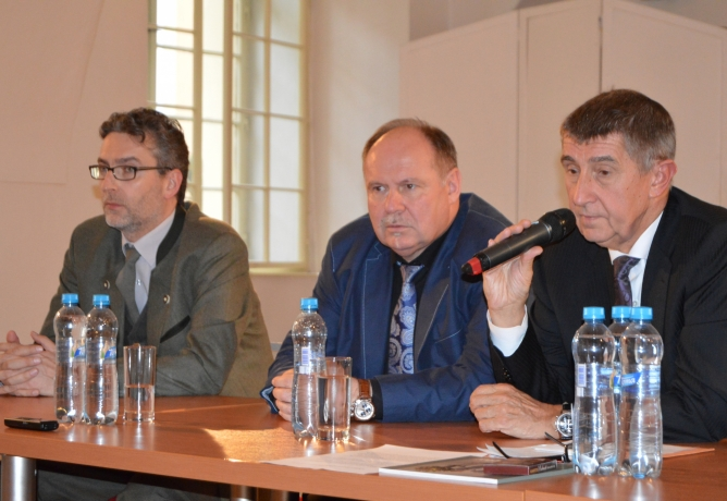 Ministr financí Andrej Babiš navštívil Olomouc