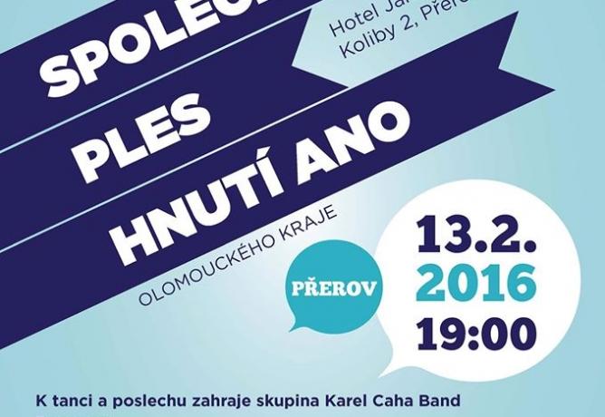 Ples hnutí ANO Olomouckého kraje 2016
