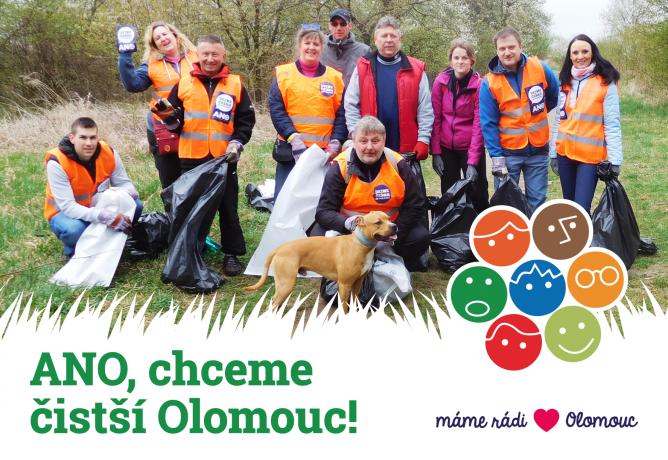 ANO, chceme čistší Olomouc!