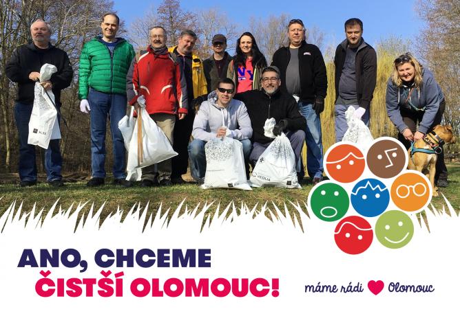 V sobotu 6. dubna uklidí Olomouc dobrovolníci. ANO, zapojíme se!