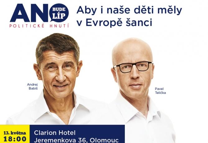 Andrej Babiš a Pavel Telička v květnu v Olomouci
