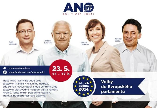 ANO tramvaj v Olomouci tento pátek